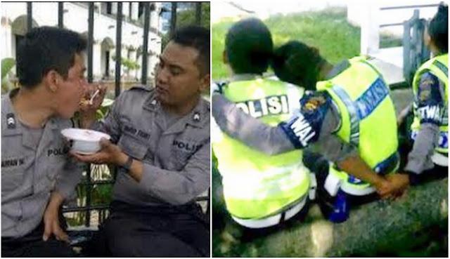 Polisi Ini Viral Karena Kelakuannya