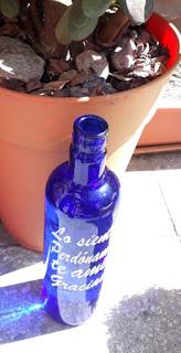 Agua solarizada botella azul