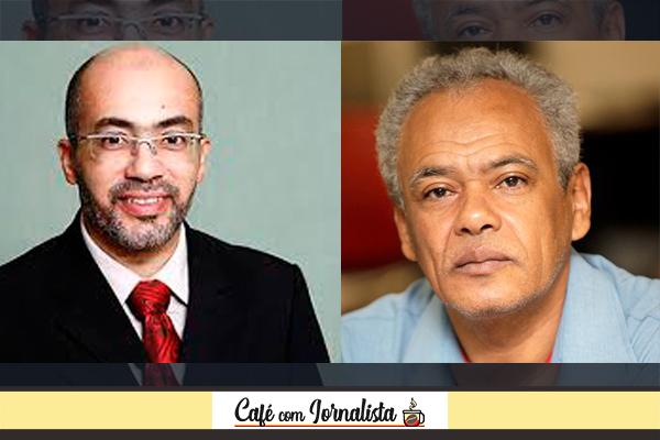 Os jornalistas Paulo Pupim e Luiz de Carvalho