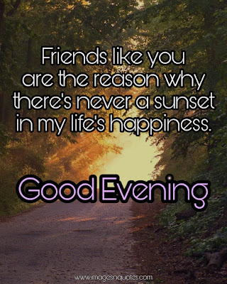 Good Evening Quotes Images for Friends