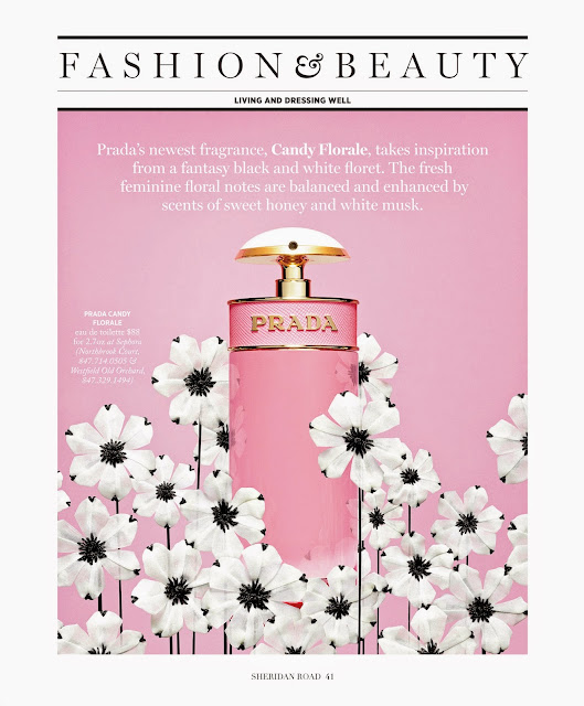 Prada's new Candy Florale fragrance featured Sheridan Road Magazine by Jessica Moazami