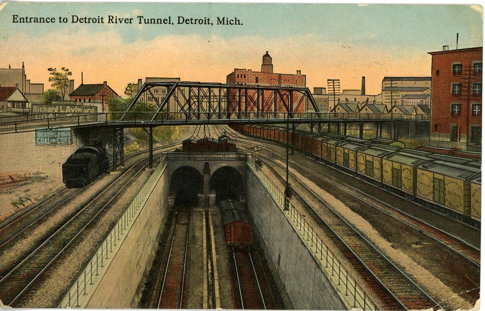 Central Maine Motors >> The National Railroad Postcard Museum: The Detroit River ...