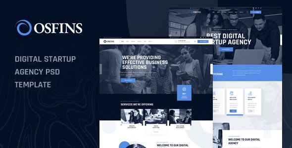 Best Digital Startup Agency PSD Template