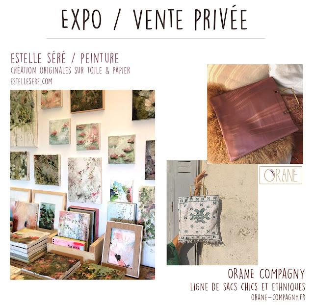 Exposition vente privée peintures Estelle Séré Bordeaux