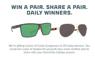 581ab3aa7f Costa Sunglasses Giveaway - 50 Winners Win TWO Sunglasses. Limit One ...