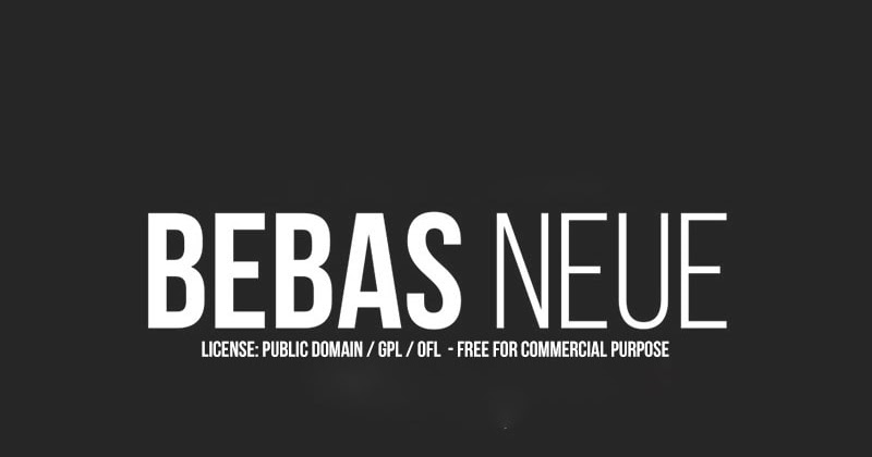 Download Bebas Neue San Serif Font   Free Fonts For Commercial Use