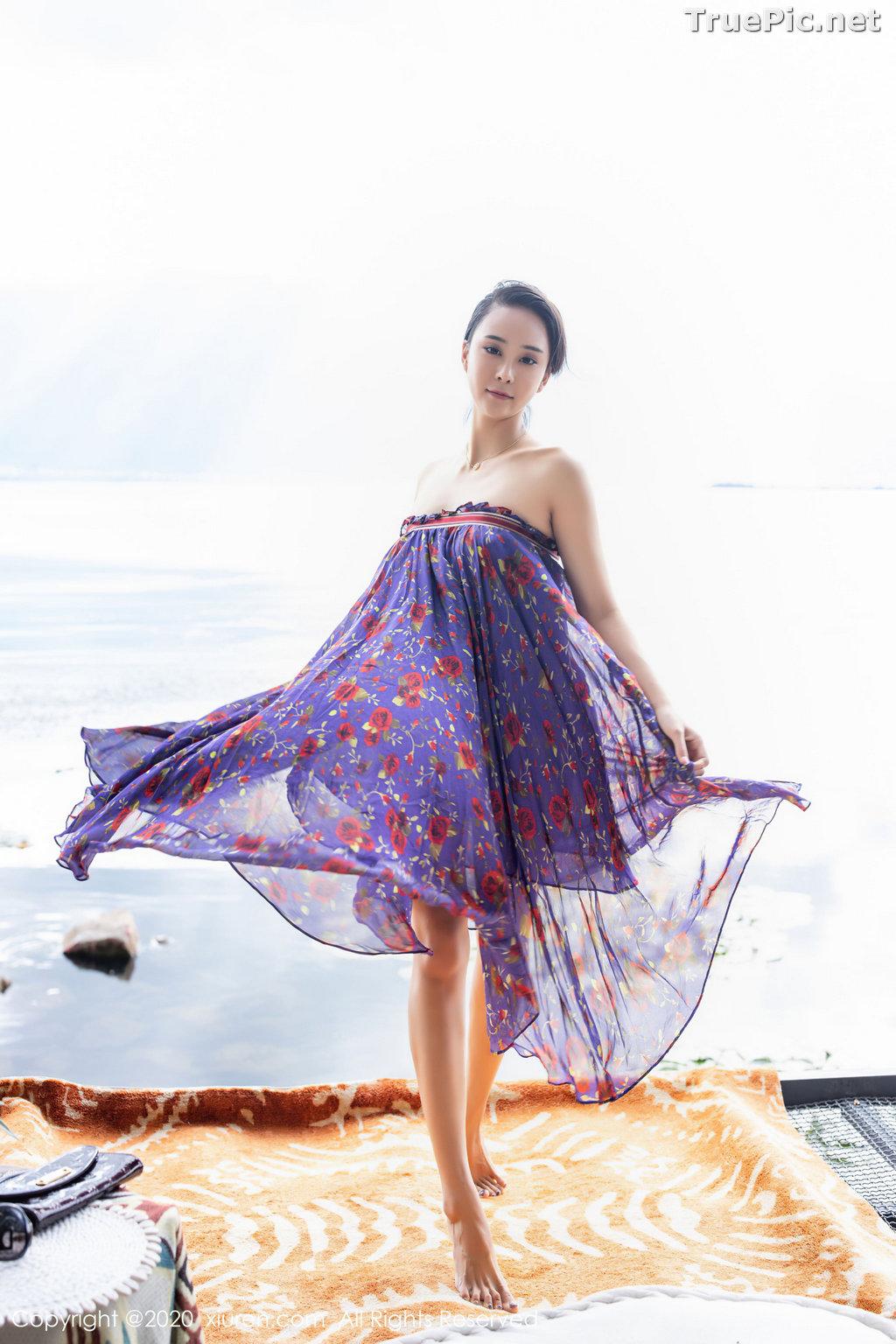 Image XIUREN No.2544 - Chinese Model - 蓝夏Akasha - Purple Queen - TruePic.net - Picture-35