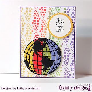 Color My World_ Custom Dies_ Globe _ Stand_ Circles_ Scalloped Circles_ Mixed Media Stencil_ Bubbles