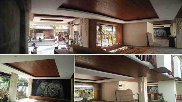 project pemasangan plafon kayu keruing