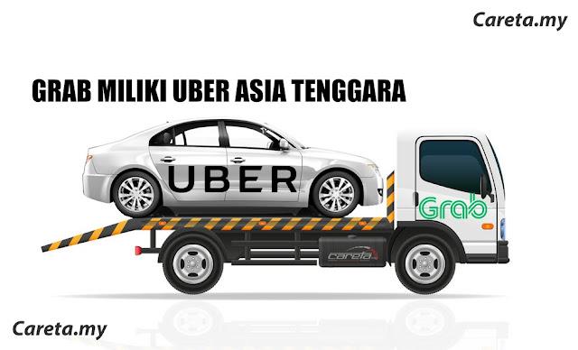 UBER Berkubur, GRAB miliki Asia Tenggara