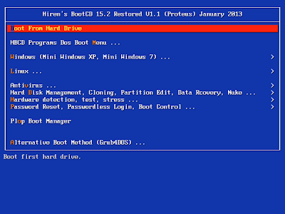 Hiren's Boot DVD 15.2 Restored Edition 1.1