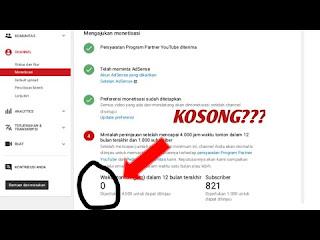 jumlah subcribe dan jam tayang youtube