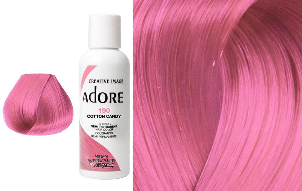 adore pink hair dye