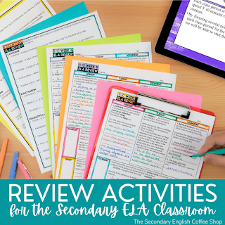 Engaging Review Ideas for Secondary ELA
