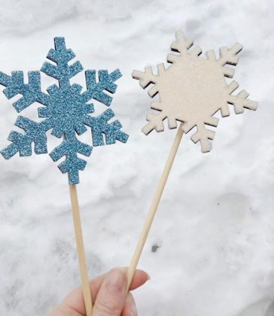 Glitter snowflakes