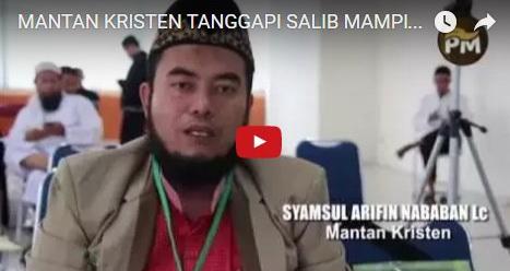VIDEO: Tanggapan Mantan Kristen Terkait Penjemputan Salib Oleh Seorang Ustad Atas Dalih Toleransi