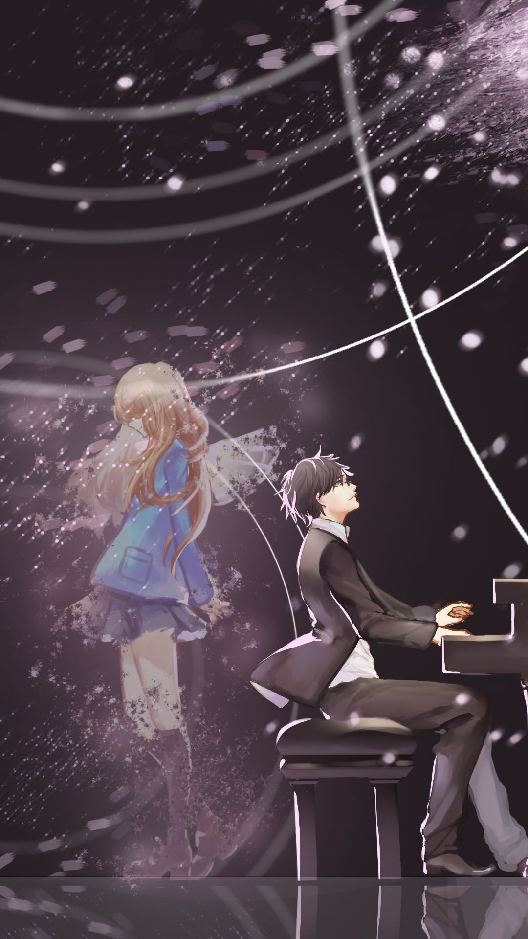 your lie in april wallpaper iphone