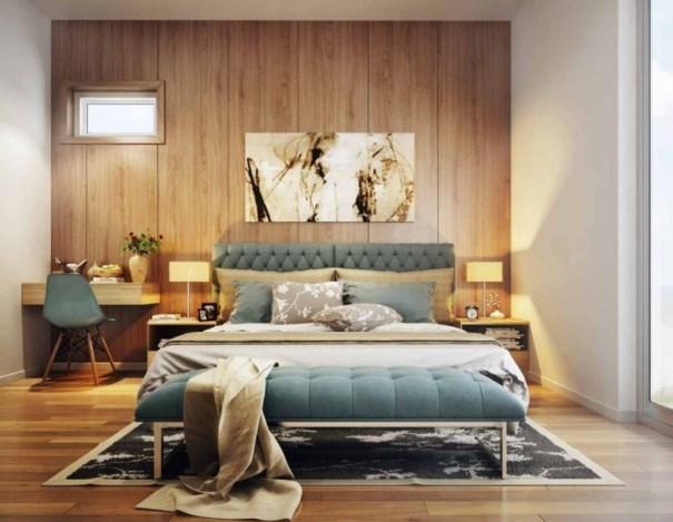Đầu giường kê sát tường