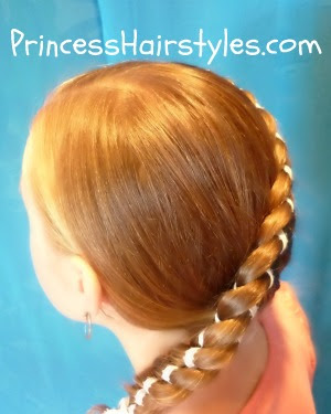 side swept ribbon braid
