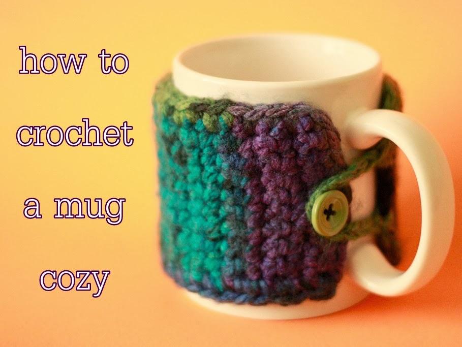 Liz Makes: Liz makes a crocheted coffee mug cozy