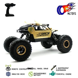 RC MOBIL OFFROAD CLIMBING CAR MONSTER SCALE 1:18 4WD 2.4Ghz Gold