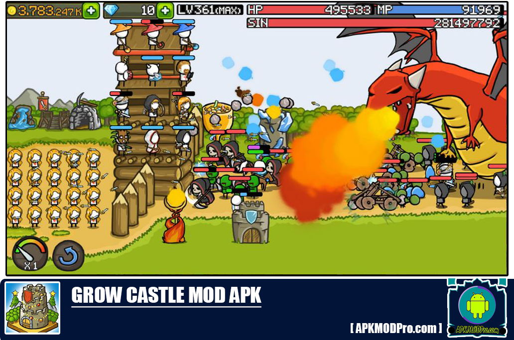 Grow Castle Mod Apk 1.26.4 [Unlimited Money, Coins] For Android