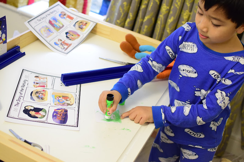 Story Sequencing: CUT AND PASTE ACTIVITY