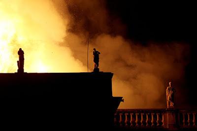 incendio fogo museu nacional