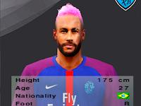 Face Neymar Pink PES 6 Terbaru 2020
