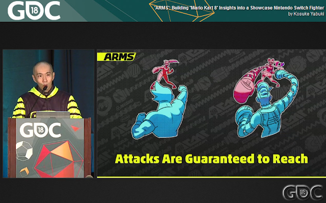ARMS Game Developers Conference 2018 Mr. Yabuki attacks are guaranteed to reach