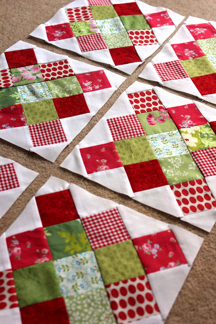 Granny Square Quilt Block made by Ashley of Country Rose, The Tutorial by Blue Elephant Stitches