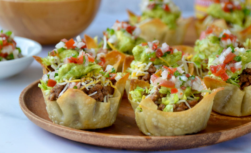 Easy Taco Salad Cups