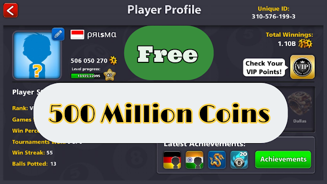 8 ball pool accounts free