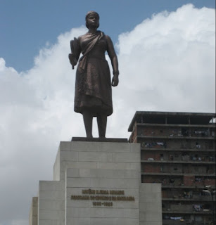 Queen Nzinga is remembered in Angola for her political and diplomatic career