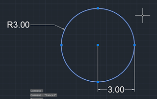 Make a Circle with the center-radius method in AutoCAD