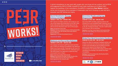 Peer Works! Webinar Series from EuroNPUD, 1-22 Απριλίου 2021