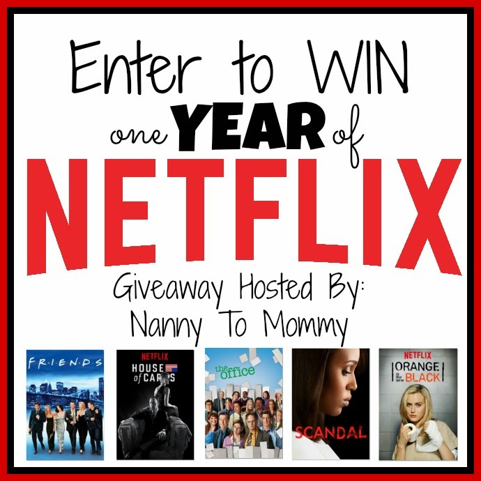 Enter the 1 Year of Netflix Giveaway. Ends 2/16.