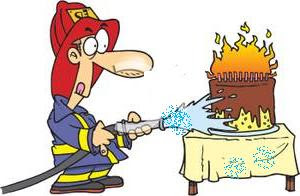 A Fireman Putting Out Candles On Birthday Cake Jpg 300x196 Happy Fire Department
