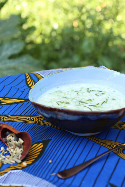 soupe froide tisane yaourt