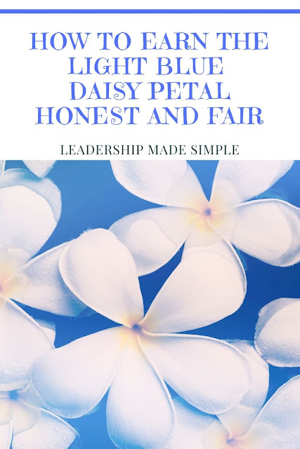 How to Earn the Light Blue Daisy Petal Honest and Fair