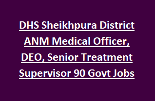 DHS Sheikhpura District ANM Medical Officer, DEO, Senior Treatment Supervisor 90 Govt Jobs Recruitment Notification 2018