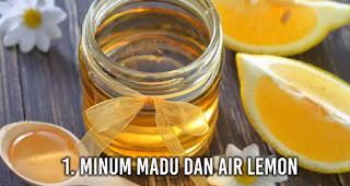 Minum Madu dan air lemon untuk Sembuhkan mabuk perjalanan