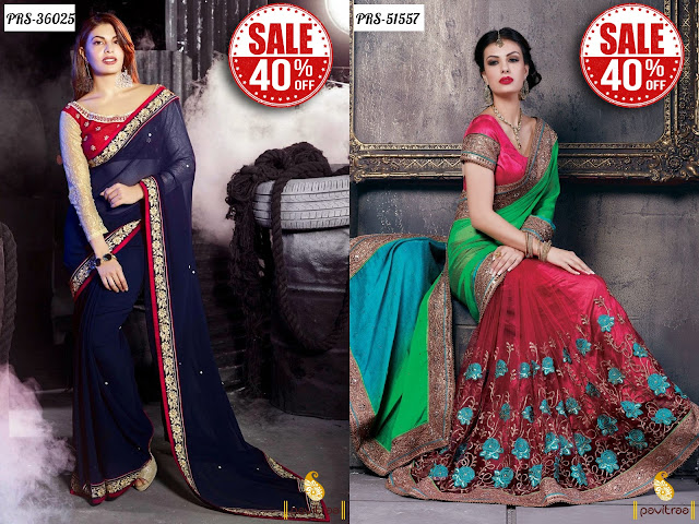 Women's day special gift party wear sarees sale online