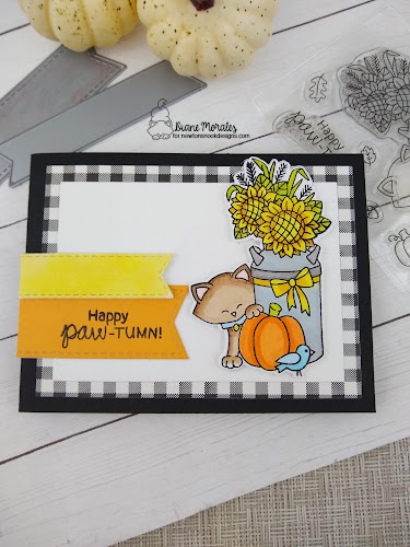 a card by Diane Morales featuring the Paw-Tumn Newton Stamp set by Newton's Nook Designs