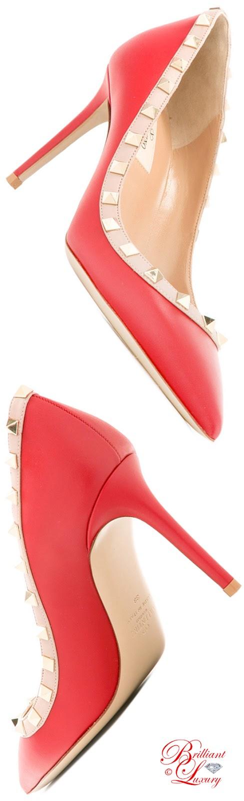 Brilliant Luxury ♦ Valentino Garavani Rockstud Pumps #red