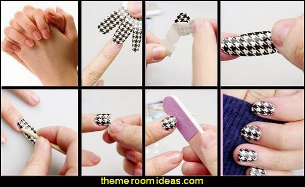 water decals nail stickers how to DIY water decal nail stickers
