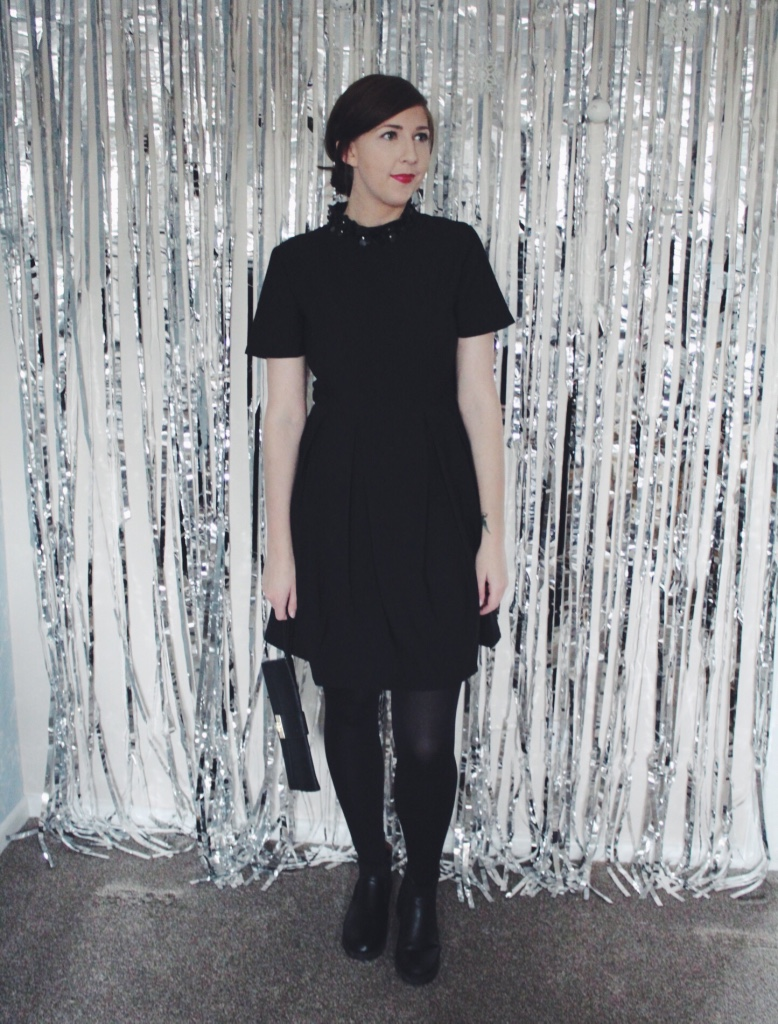ASOS, asseenonme, sugarhillboutique, poppylux, lbd, littleblackdress, wiw, christmaspartystyle, fashionbloggers, fblogger, fbloggers, lookoftheday, lotd, ootd, outfitoftheday, riverisland, embellishedcollar, whatimwearing