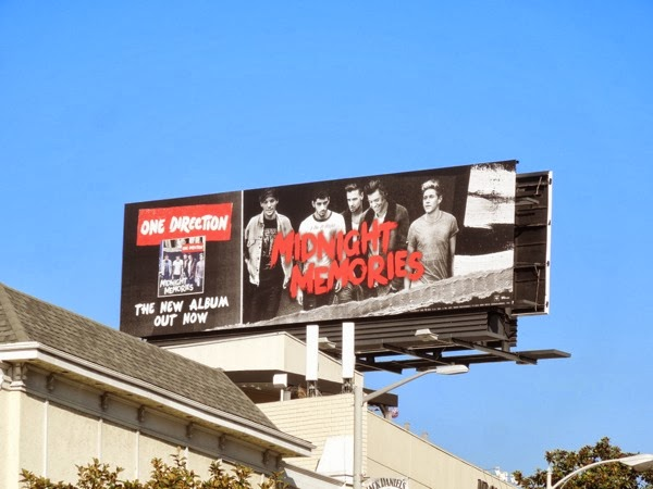One Direction Midnight Memories billboard