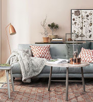 Decorating living area with pastel colors