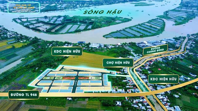 Sơ đồ vị trí dự án Khu dân cư và chợ An Long, xã An Thạnh Trung, huyện Chợ Mới, An Giang.